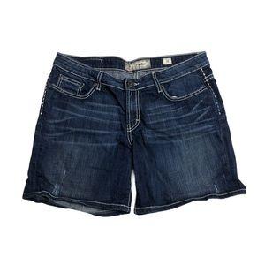 BKE Payton Denim Shorts Stretch Bling Pockets 31